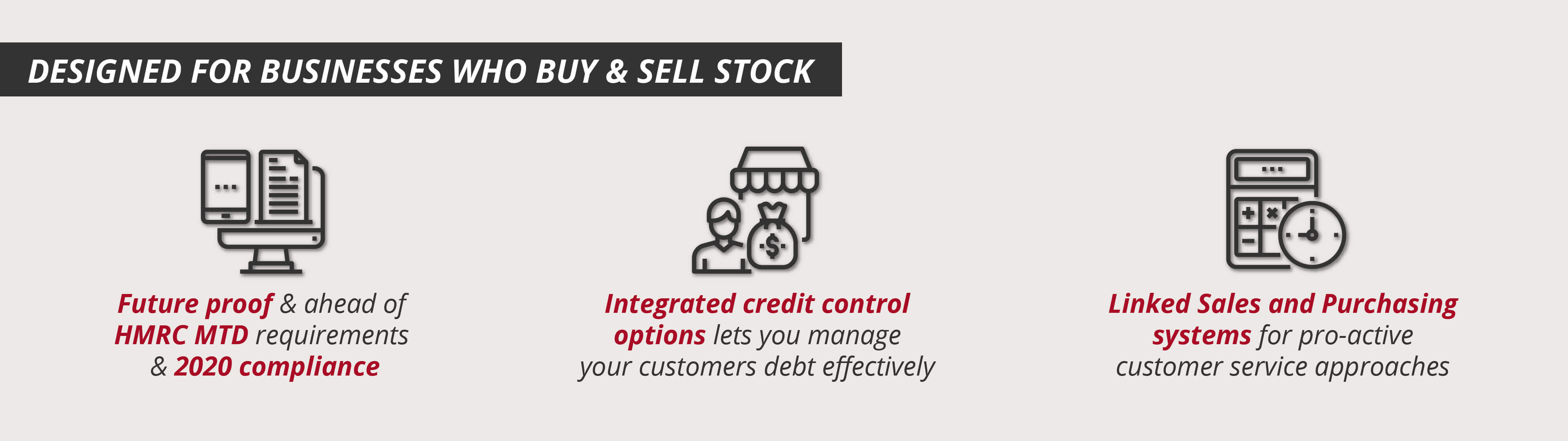 Designed for Businesses Who Buy and Sell Stock