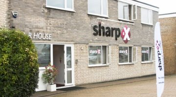 How efficient is the Sharp-aX business?