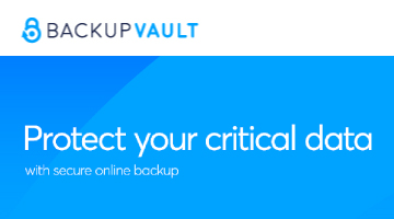 Sharp-aX recommends BackupVault – the automatic way to back up your data