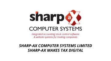 Sharp-aX Makes Tax Digital